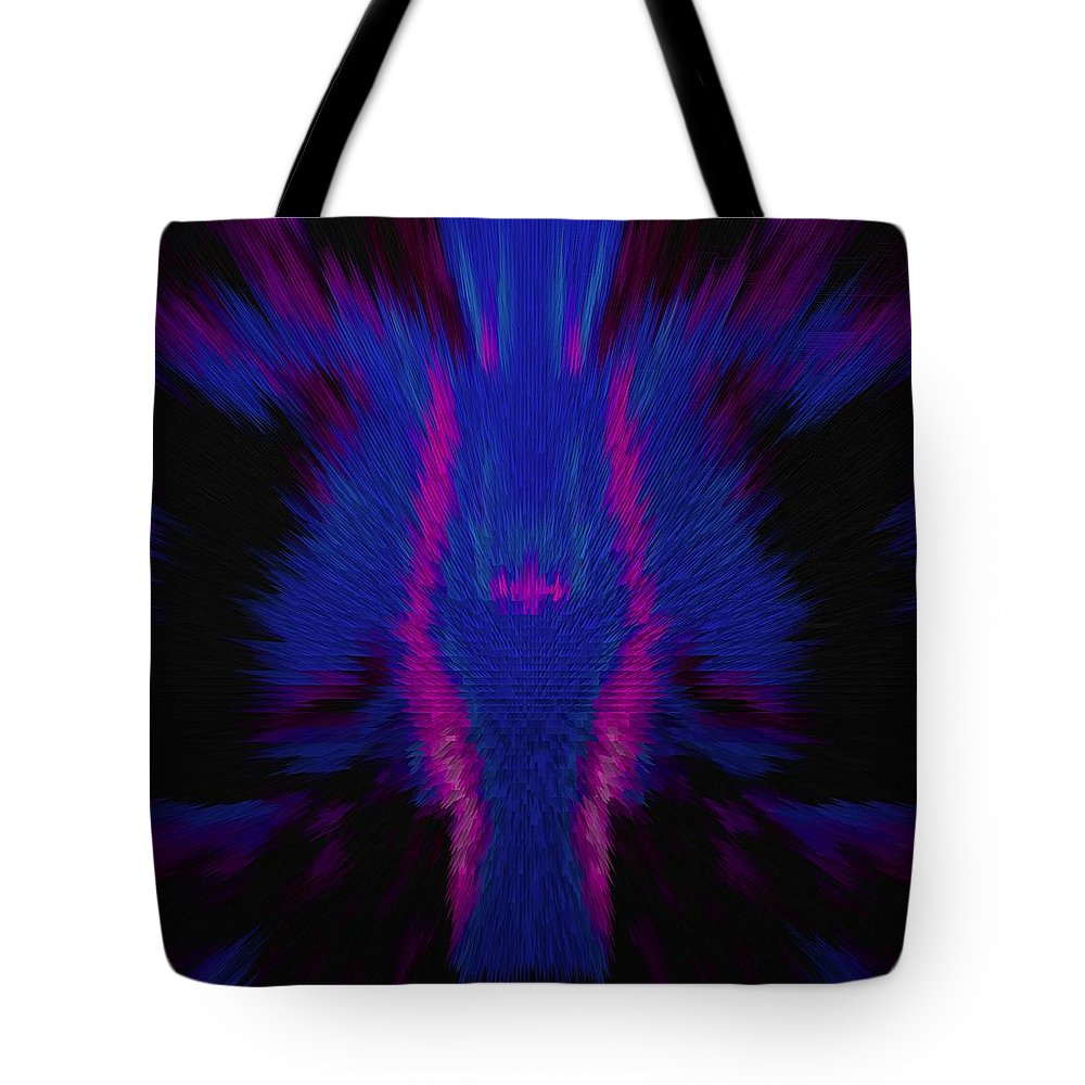 Fire Tote Bag featuring the photograph Fire Wolf Abstract by DigiArt Diaries by Vicky B Fuller
