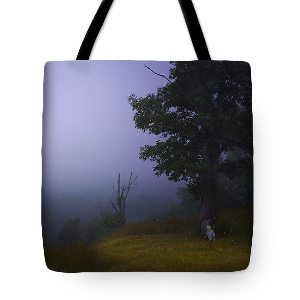 Ron Jones Tote Bag featuring the photograph Fireflies by Ron Jones