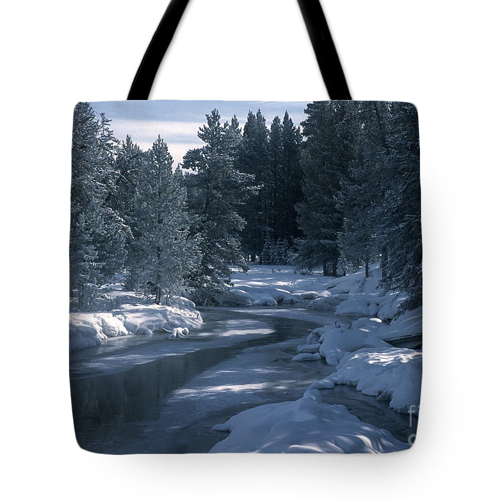 Yellowstone National Park Tote Bag featuring the photograph Firehole River In Yellowstone by Sandra Bronstein