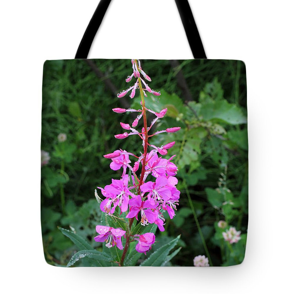 Doug Lloyd Tote Bag featuring the photograph Fireweed by Doug Lloyd