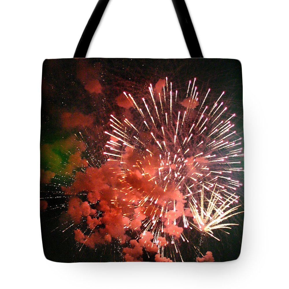 Art Tote Bag featuring the photograph Fireworks by Kelly Hazel