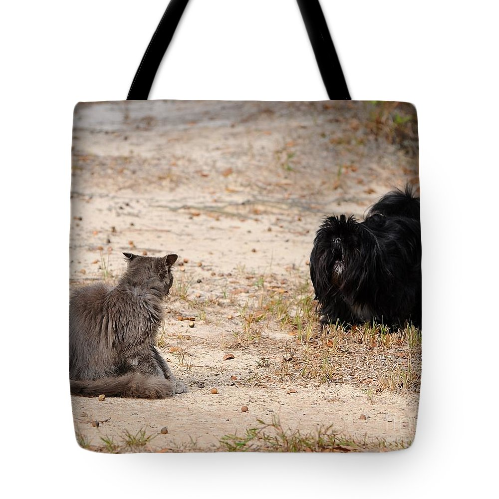 Pet Tote Bag featuring the photograph First Impressions by Al Powell Photography USA