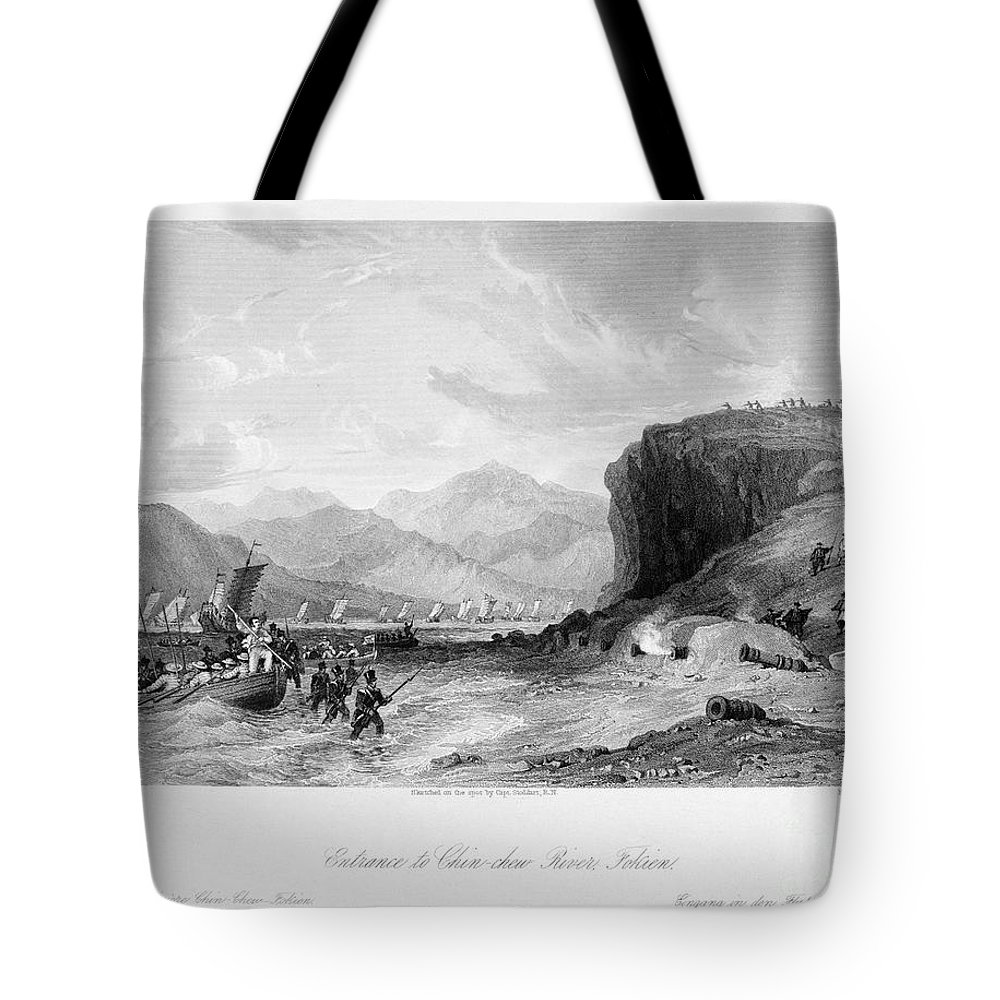 1841 Tote Bag featuring the photograph First Opium War, C1841 by Granger