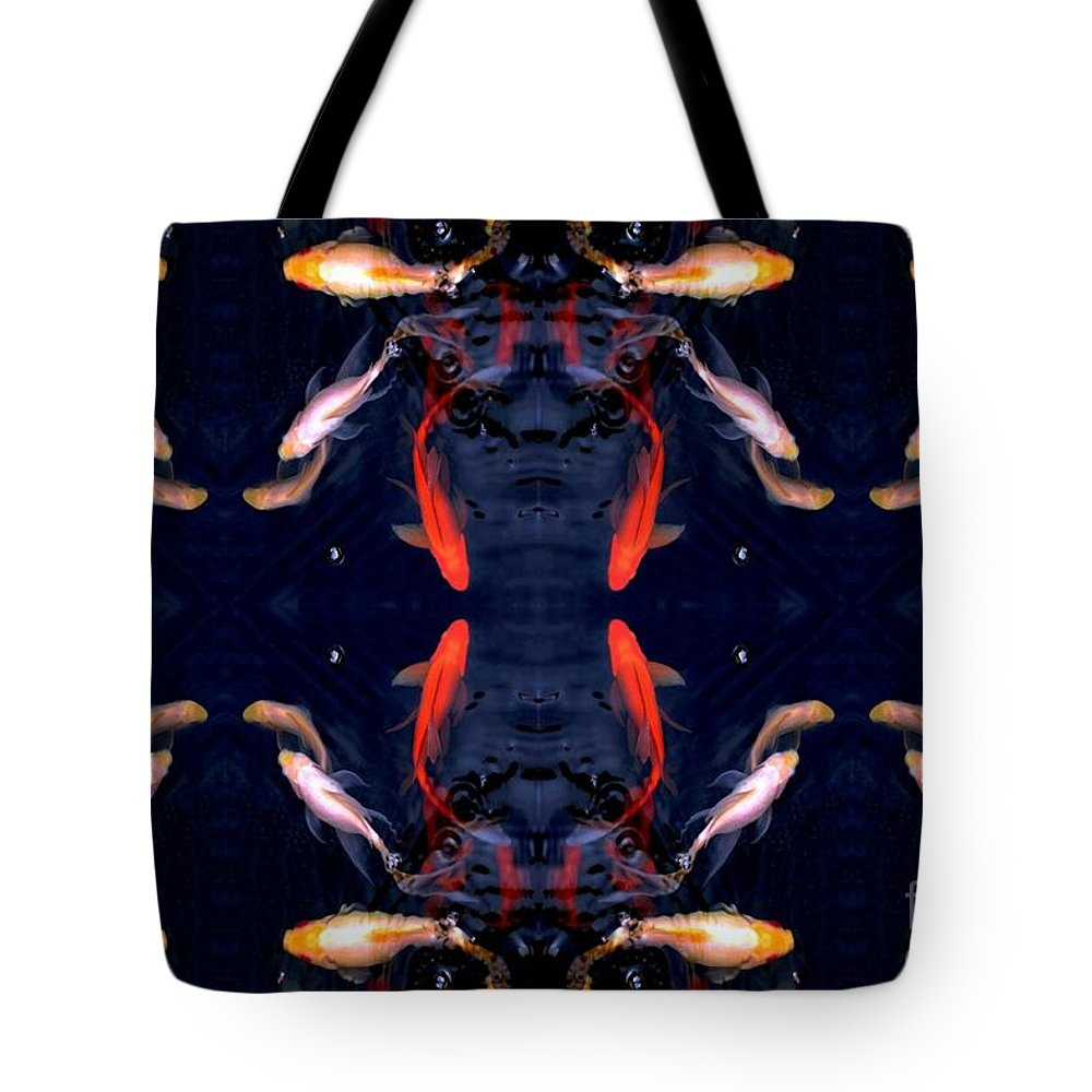 Fish Tote Bag featuring the digital art Fish Ballet by Dale  Ford
