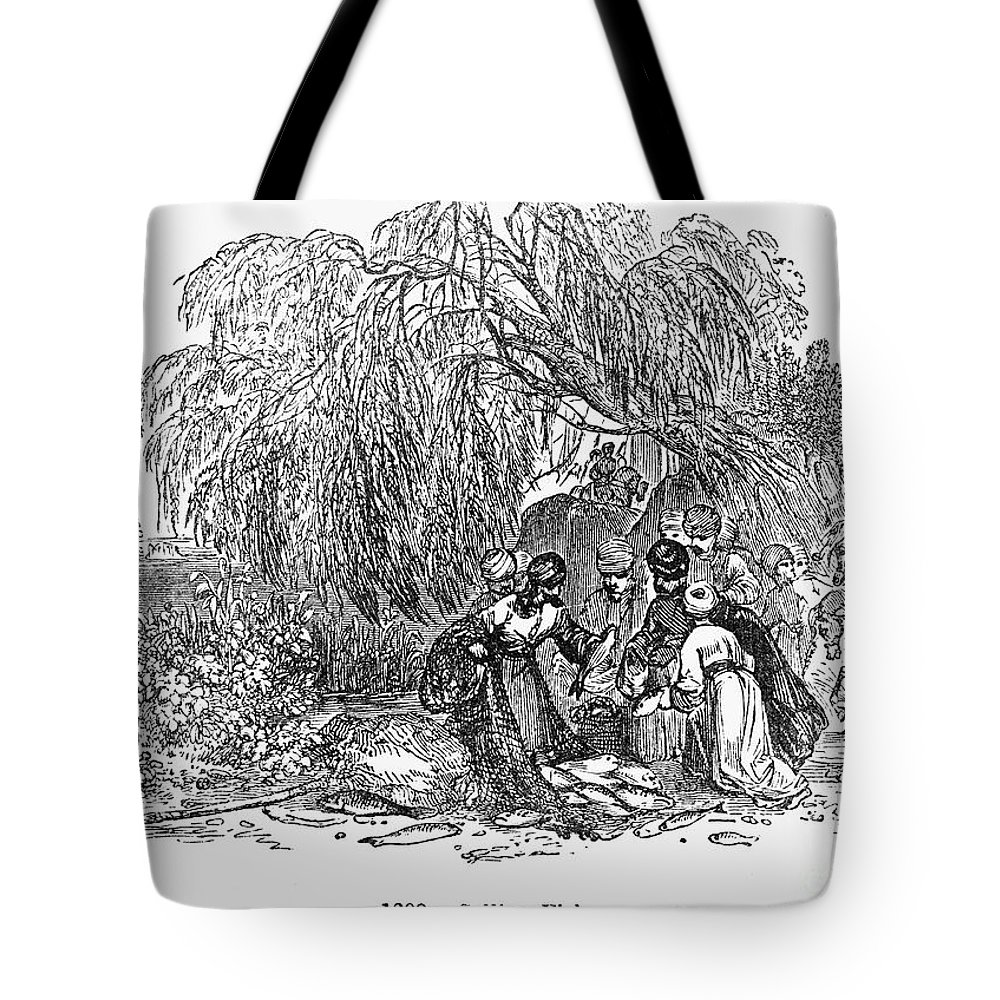 1st Century Tote Bag featuring the photograph Fish Market, 1st Century by Granger