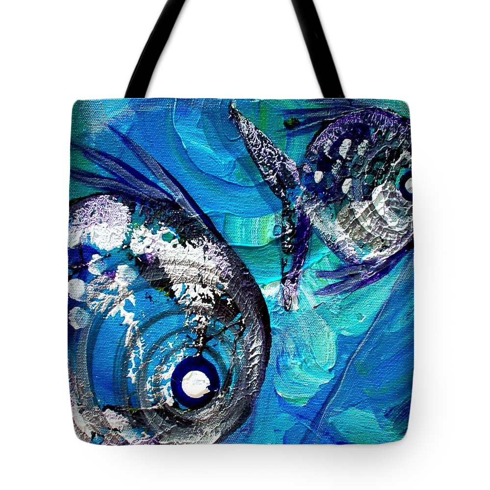Fish Tote Bag featuring the painting Fish Print 2 by J Vincent Scarpace
