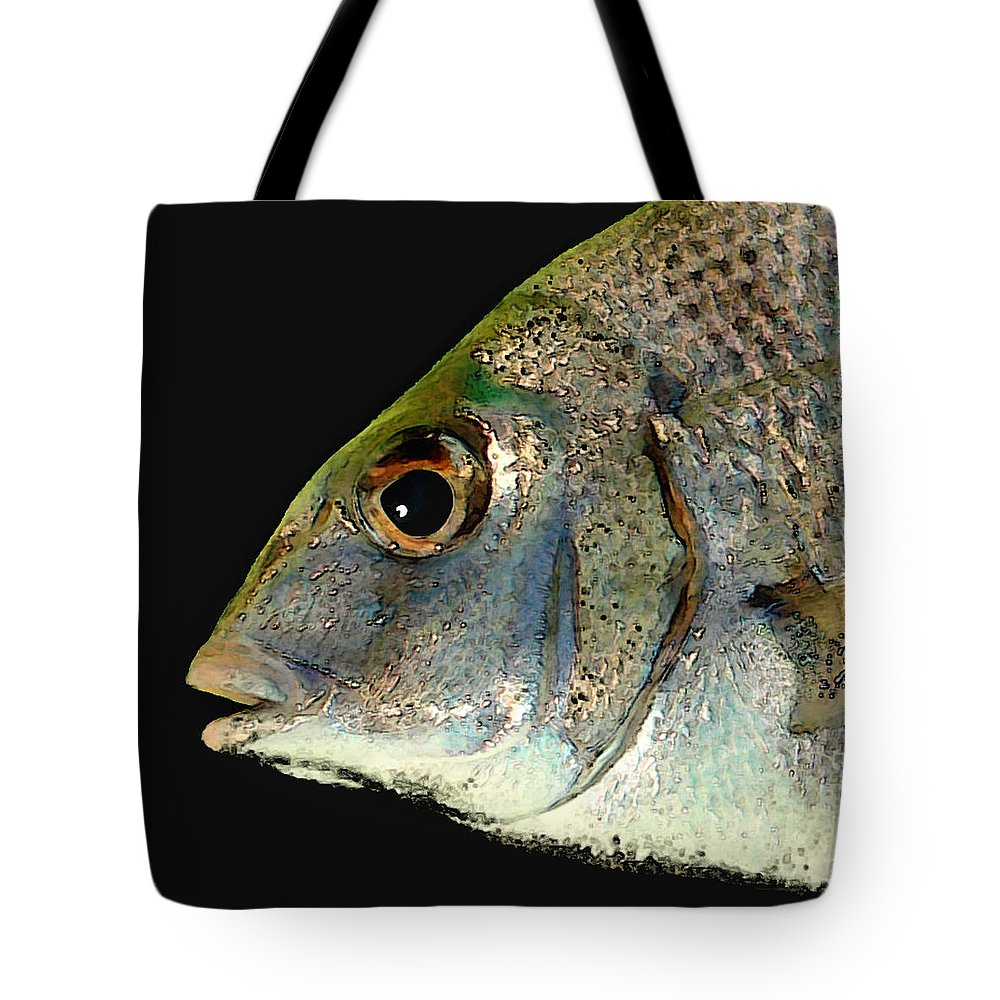 Fish Tote Bag featuring the photograph Fisheye by Karen Lynch