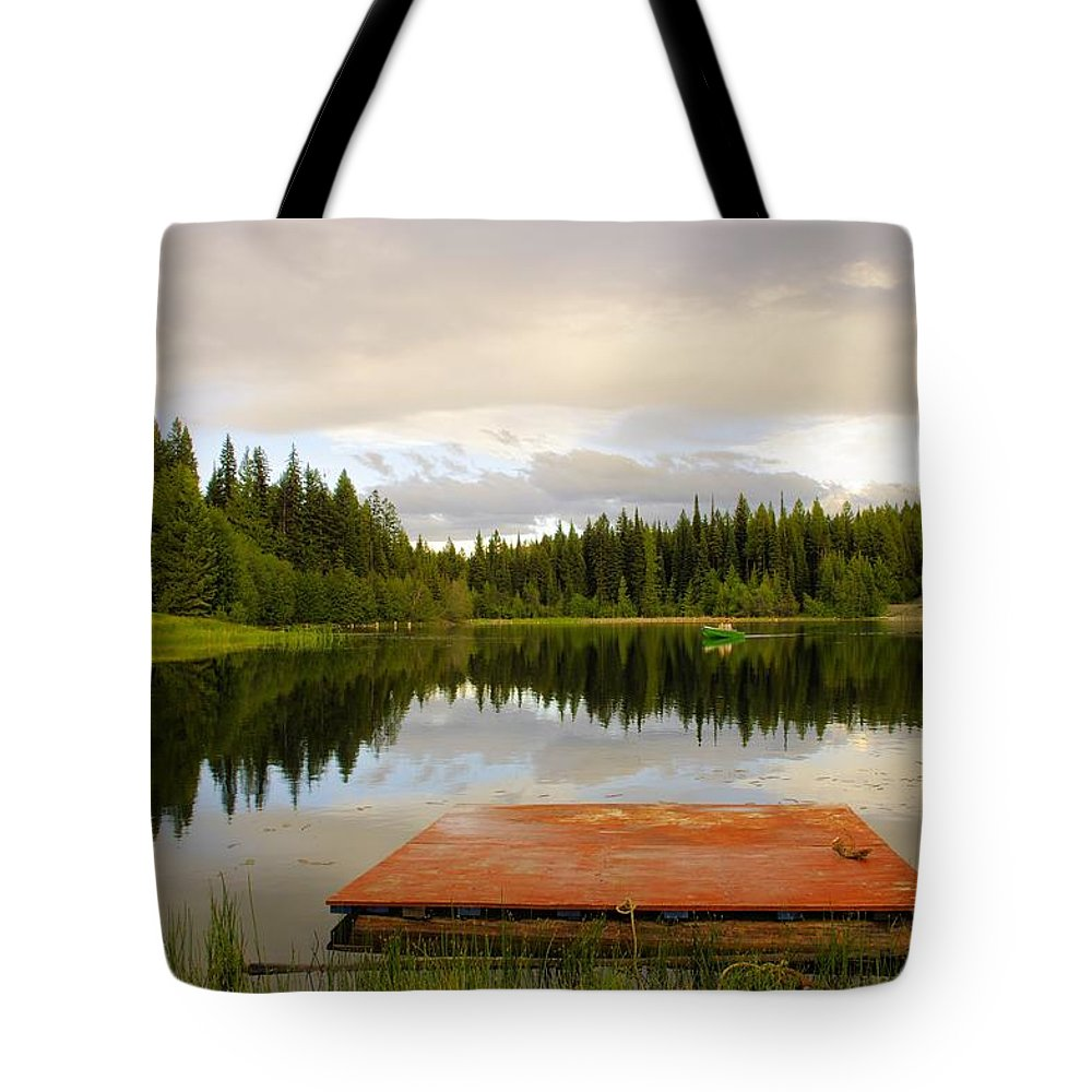 Fishing Tote Bag featuring the photograph Fishing A Mirror by John Greaves