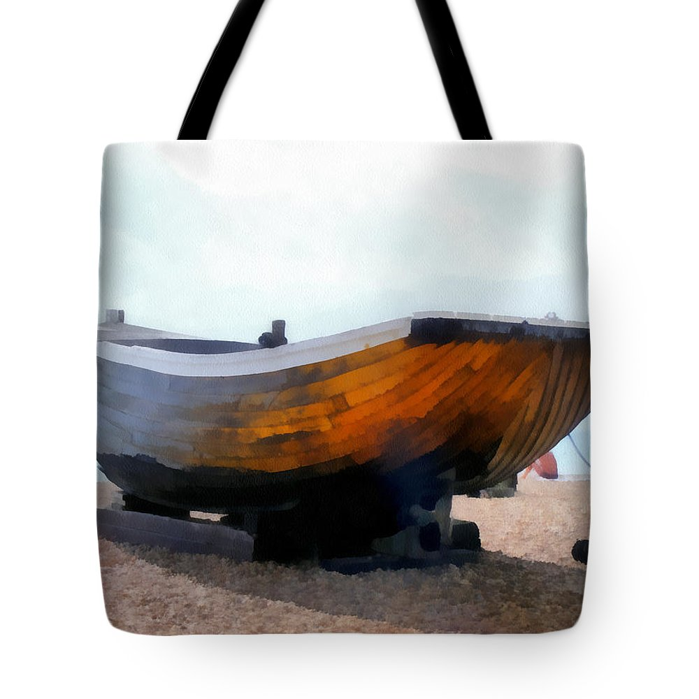 Still Life Tote Bag featuring the painting Fishing Boat - Brighton Beach by Martin Deane