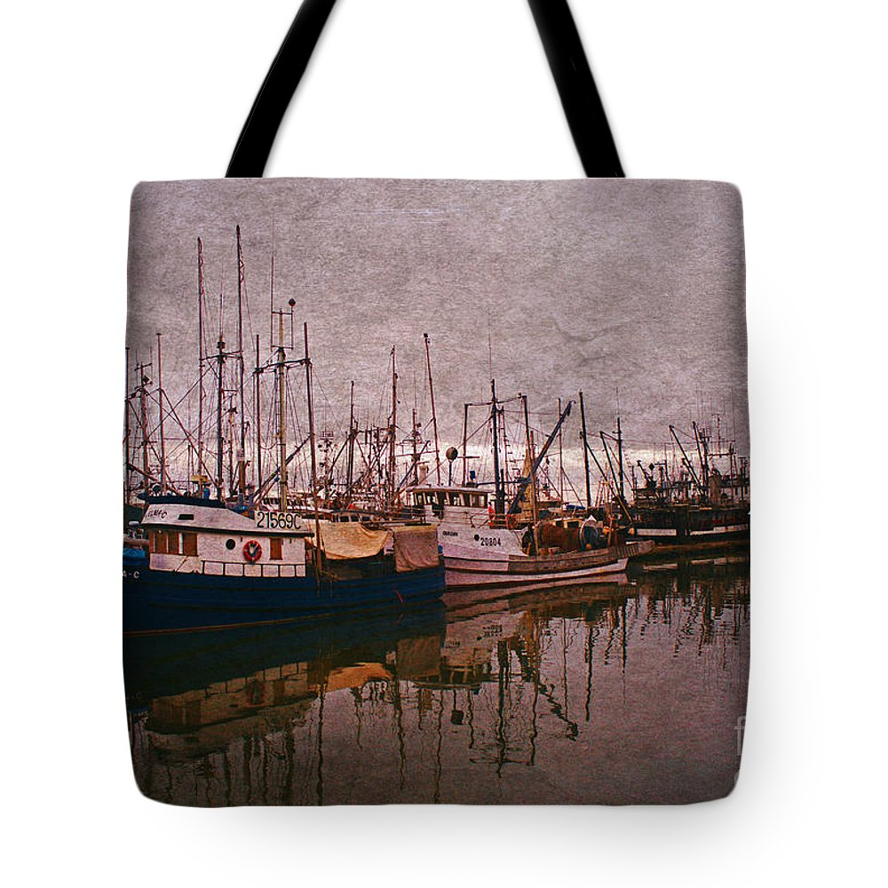 Boats Tote Bag featuring the photograph Fishing Boats Of Steveston-ca by Randy Harris