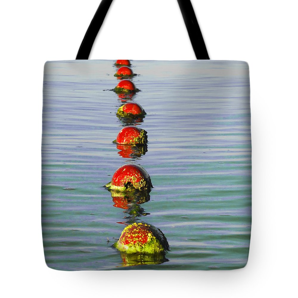 Float Tote Bag featuring the photograph Fishing Floats by Anne Mott