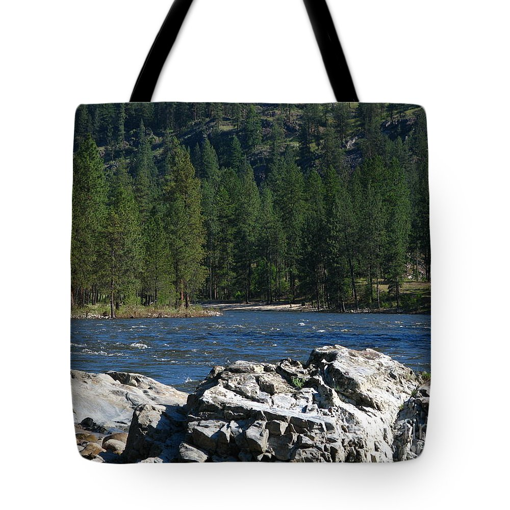Art For The Wall...patzer Photography Tote Bag featuring the photograph Fishing Spot by Greg Patzer