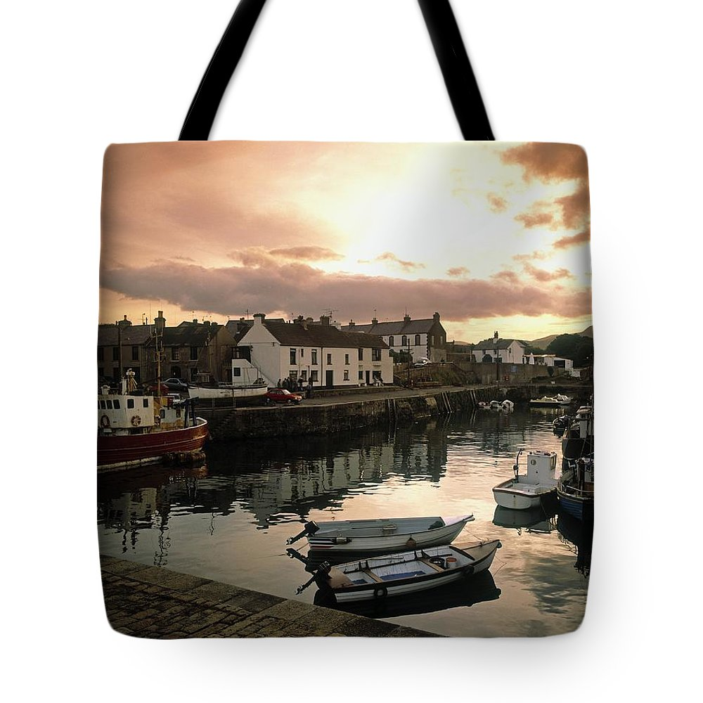 Boat Tote Bag featuring the photograph Fishing Village In Ireland by The Irish Image Collection