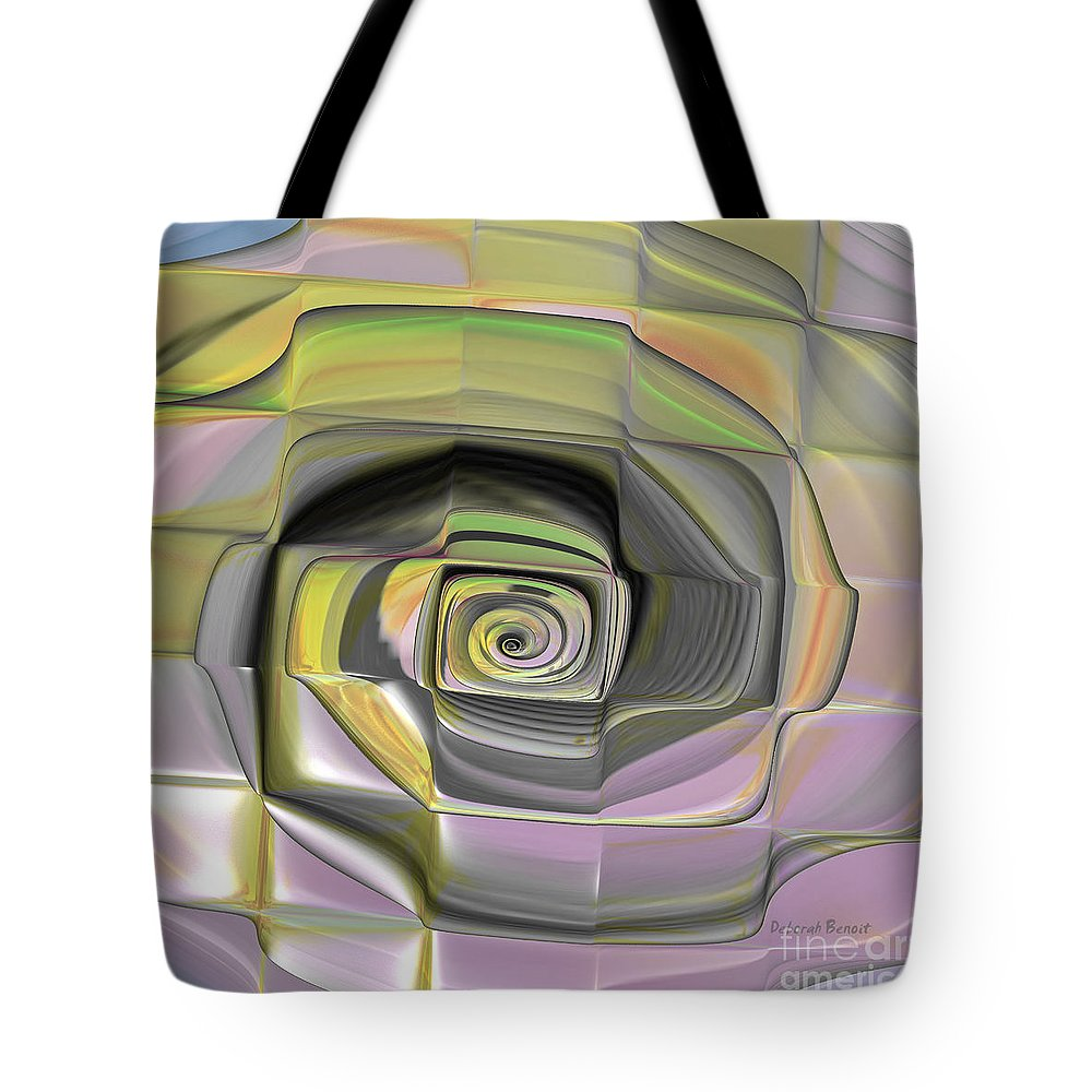 Digital Tote Bag featuring the digital art Fit Into The Box by Deborah Benoit