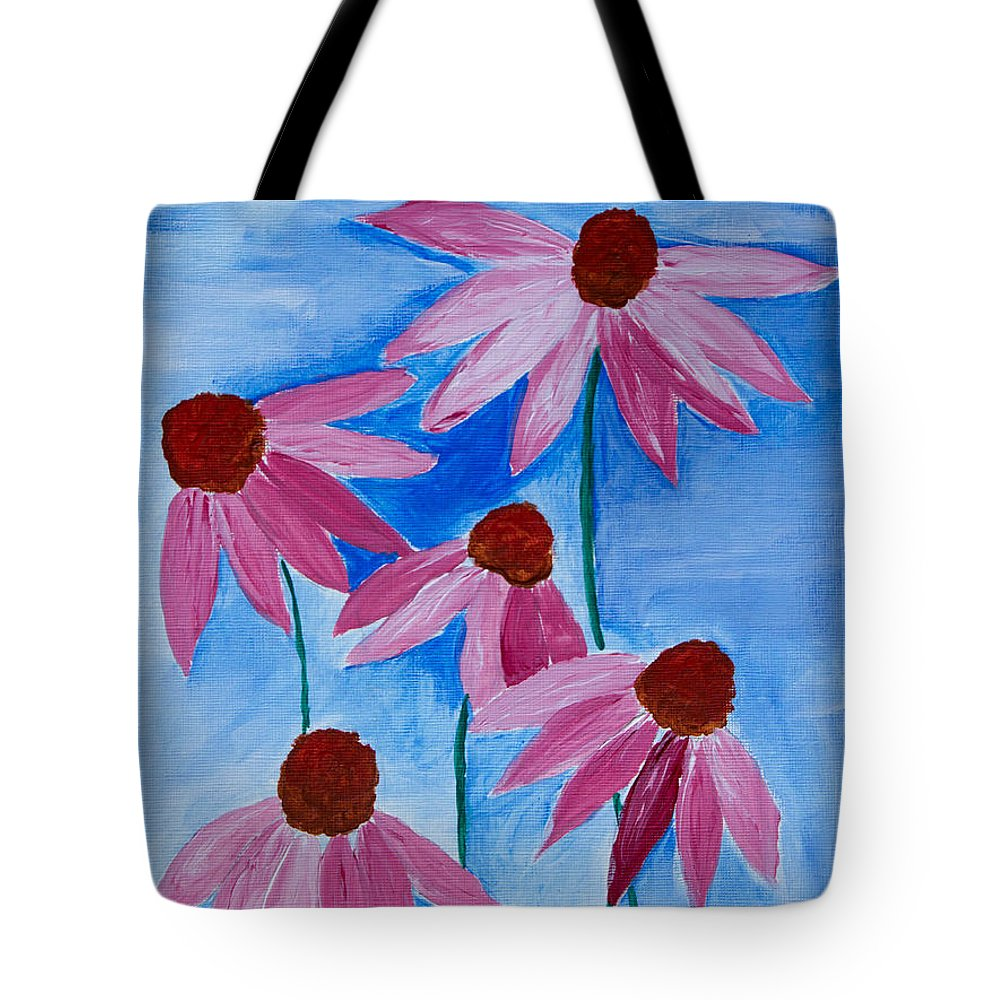 Acrylic Tote Bag featuring the painting Five Ladies Dancing by Heidi Smith