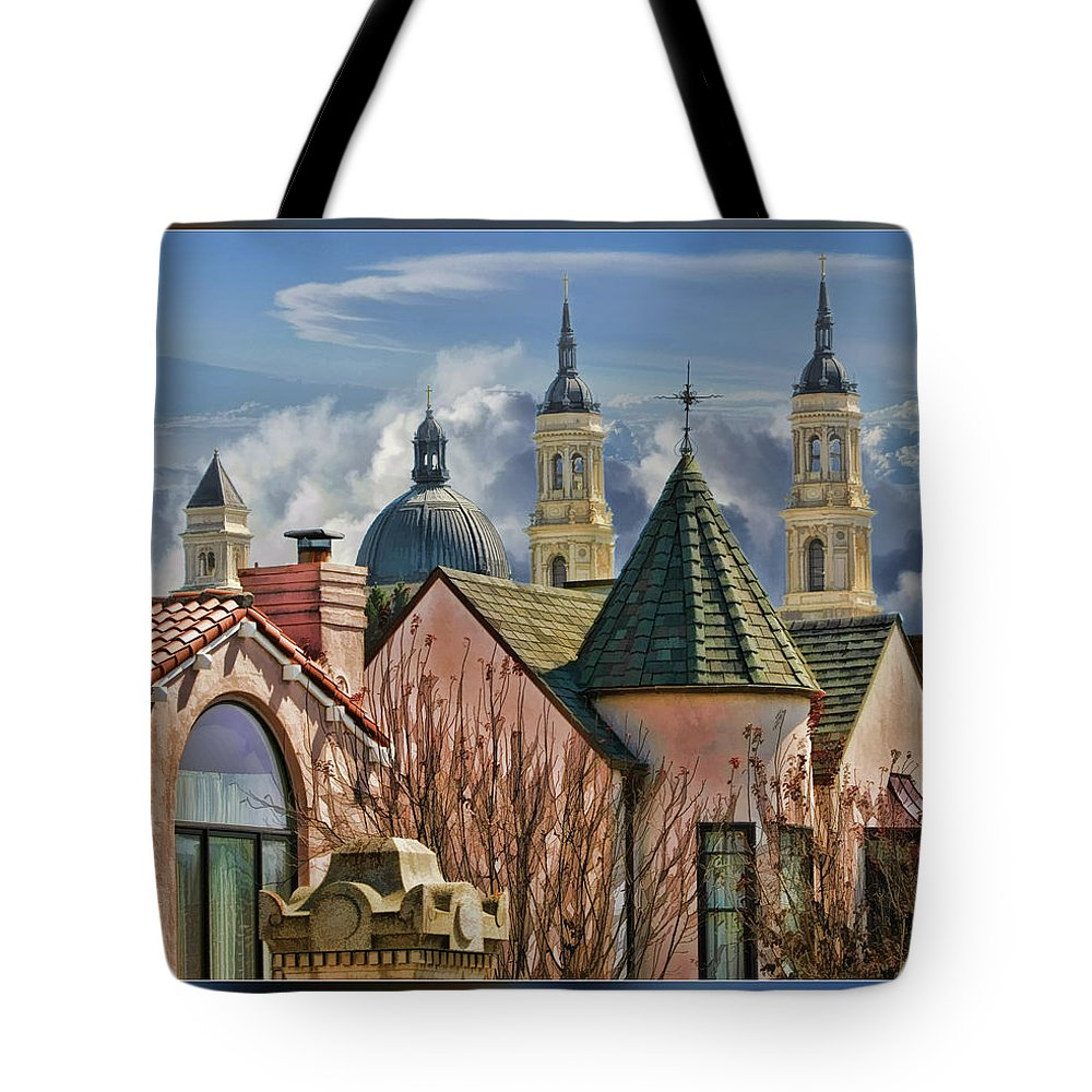 Art Photography Tote Bag featuring the photograph Five Steples by Blake Richards