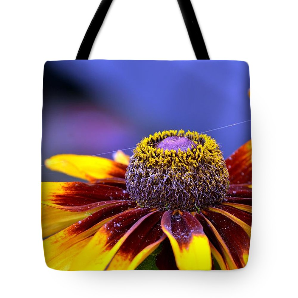 Flakes Tote Bag featuring the photograph Flakes Of Pollen by Maria Urso