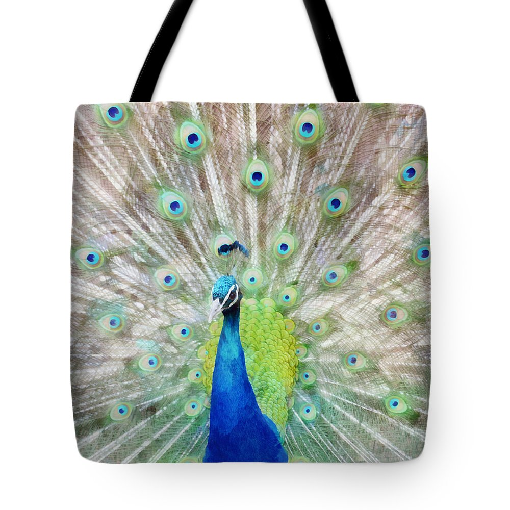 Zoo Tote Bag featuring the mixed media Flaunting by Angelina Vick