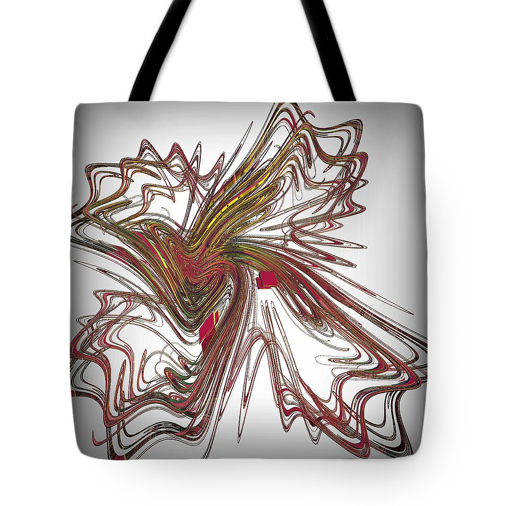 Fractal Tote Bag featuring the digital art Flight Of Fancy by Leslie Revels