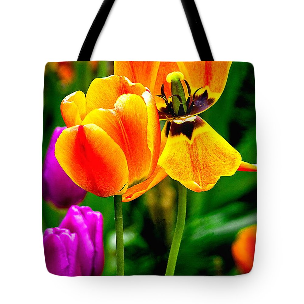 Tote Bag featuring the photograph Flower 19 by Burney Lieberman