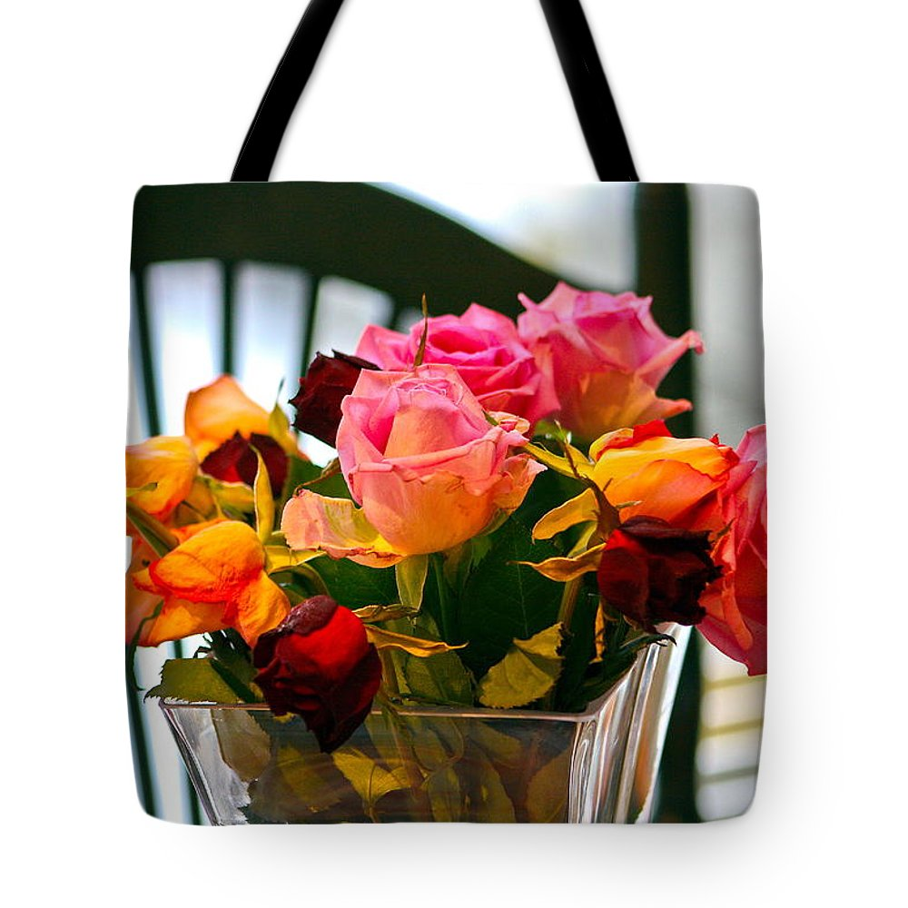 Tote Bag featuring the photograph Flower 34 by Burney Lieberman