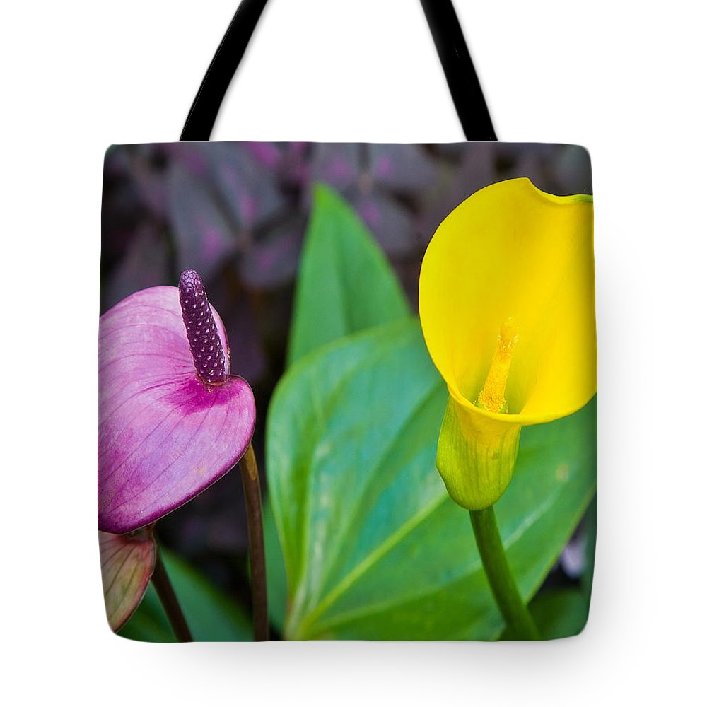 Tote Bag featuring the photograph Flower 4 by Burney Lieberman