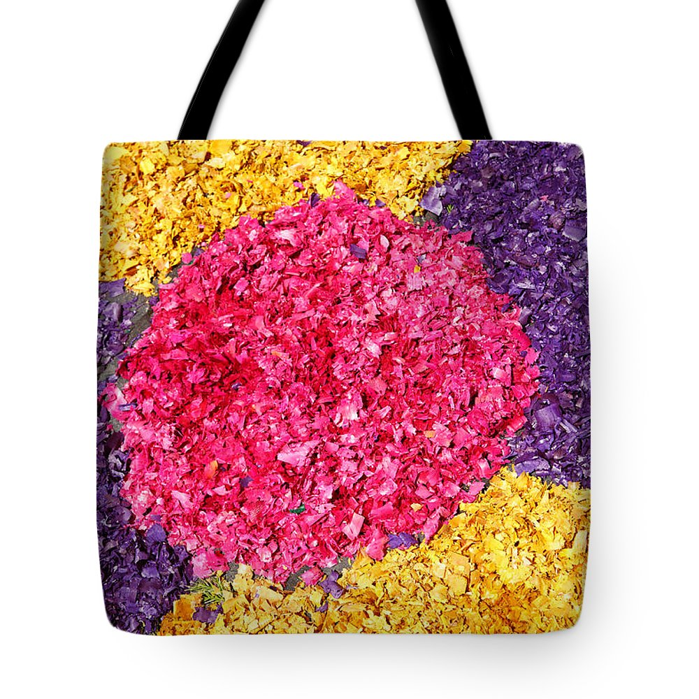 Colors Tote Bag featuring the photograph Flower Carpet by Gaspar Avila