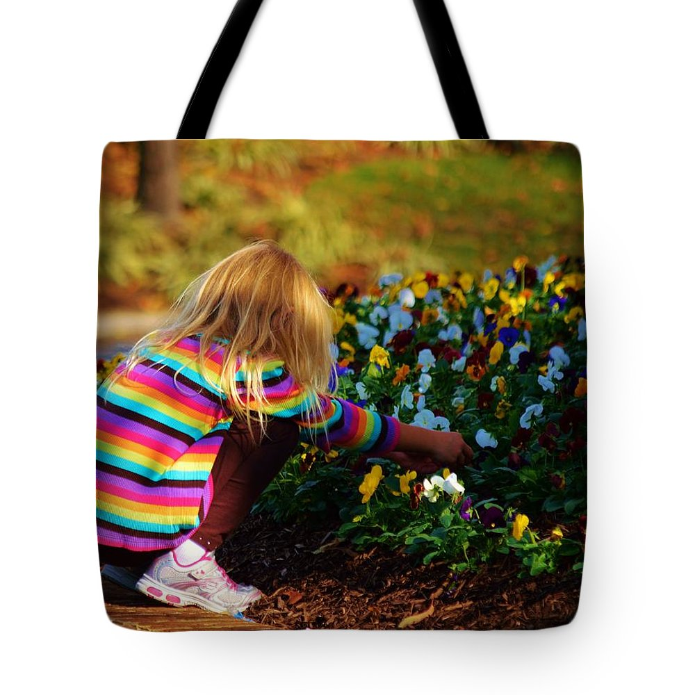 Beach Bum Pics Tote Bag featuring the photograph Flower Girl by William Bartholomew