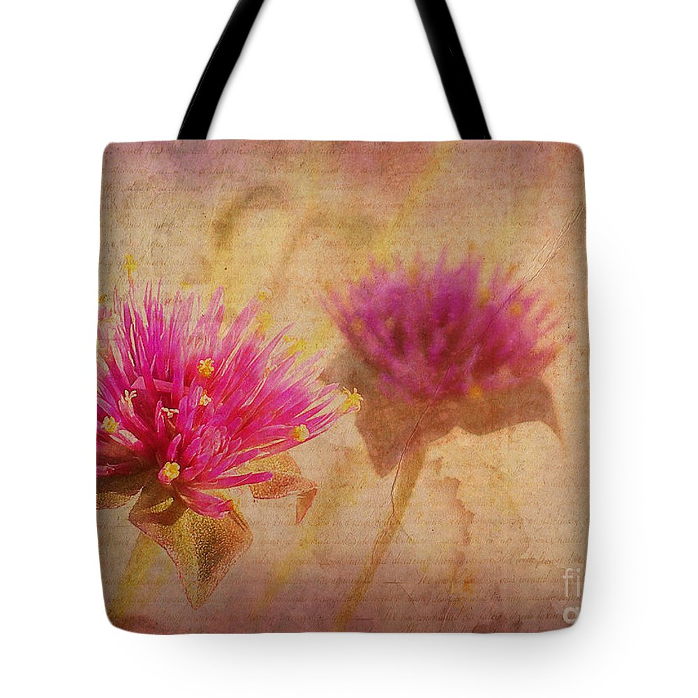 Flowers Tote Bag featuring the photograph Flower Memories by Judi Bagwell