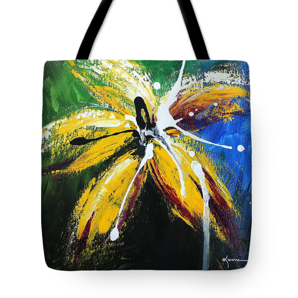 Floral Tote Bag featuring the painting Flower Of Felucia by Kume Bryant