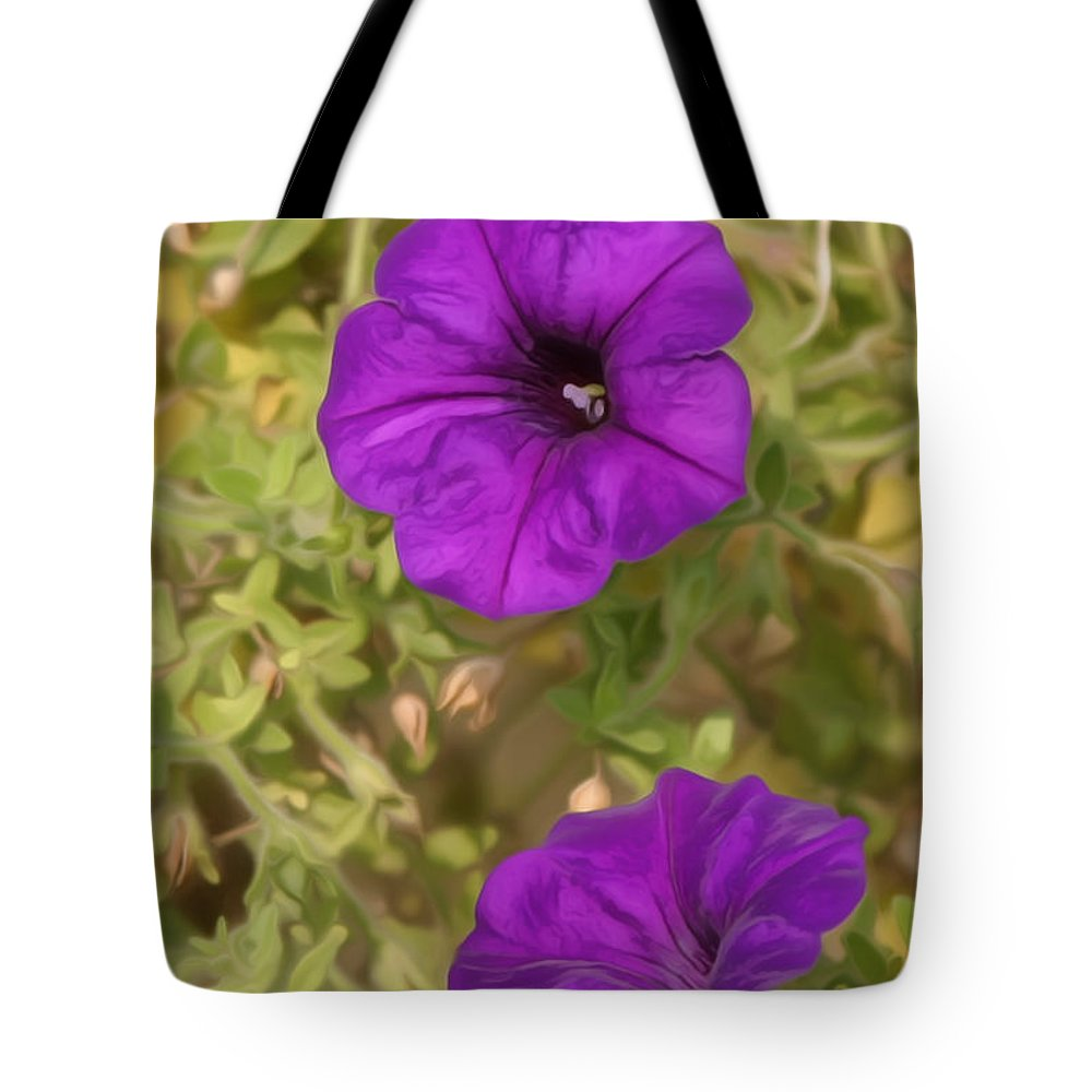 Metro Tote Bag featuring the digital art Flower Painting 0006 by Metro DC Photography