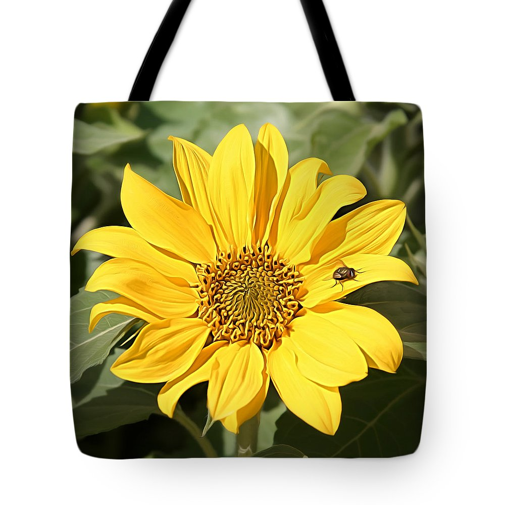 Metro Tote Bag featuring the digital art Flower Painting 0010 by Metro DC Photography