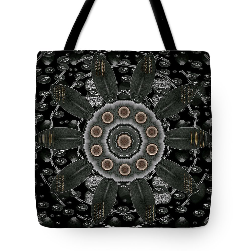 Landscape Tote Bag featuring the mixed media Flower Planet And Other Planets Pop Art by Pepita Selles