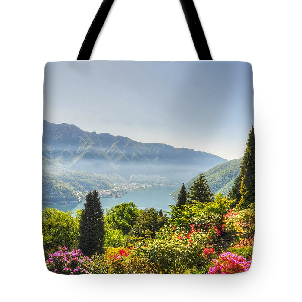 Flowers Tote Bag featuring the photograph Flowers And Trees by Mats Silvan