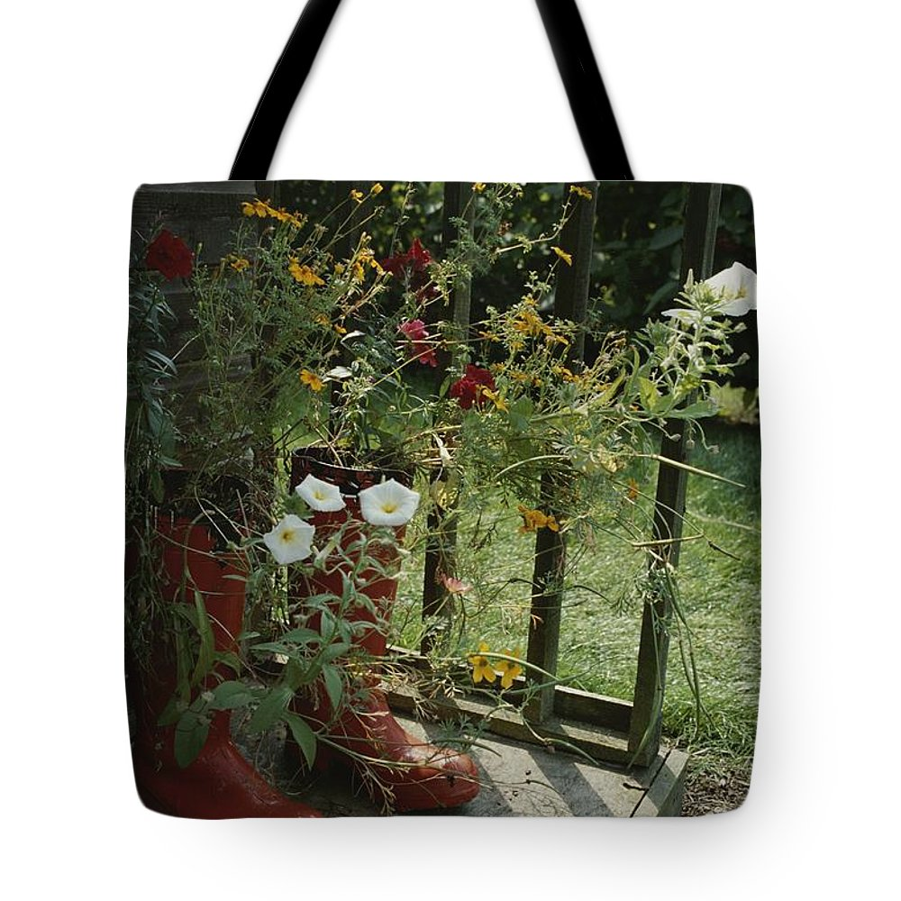 Europe Tote Bag featuring the photograph Flowers Bloom From An Unlikely Place-a by Jonathan Blair