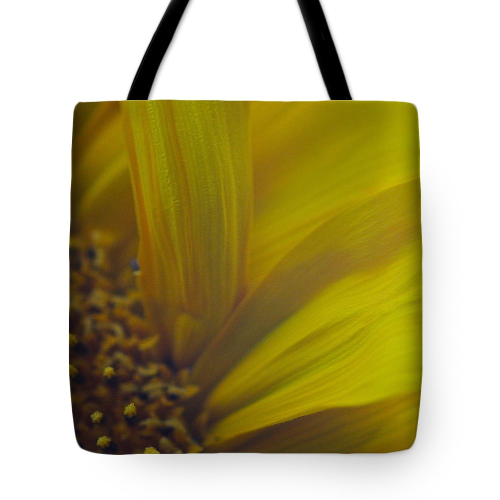 Sunflower Tote Bag featuring the photograph Flowing Petals by Melany Raubolt