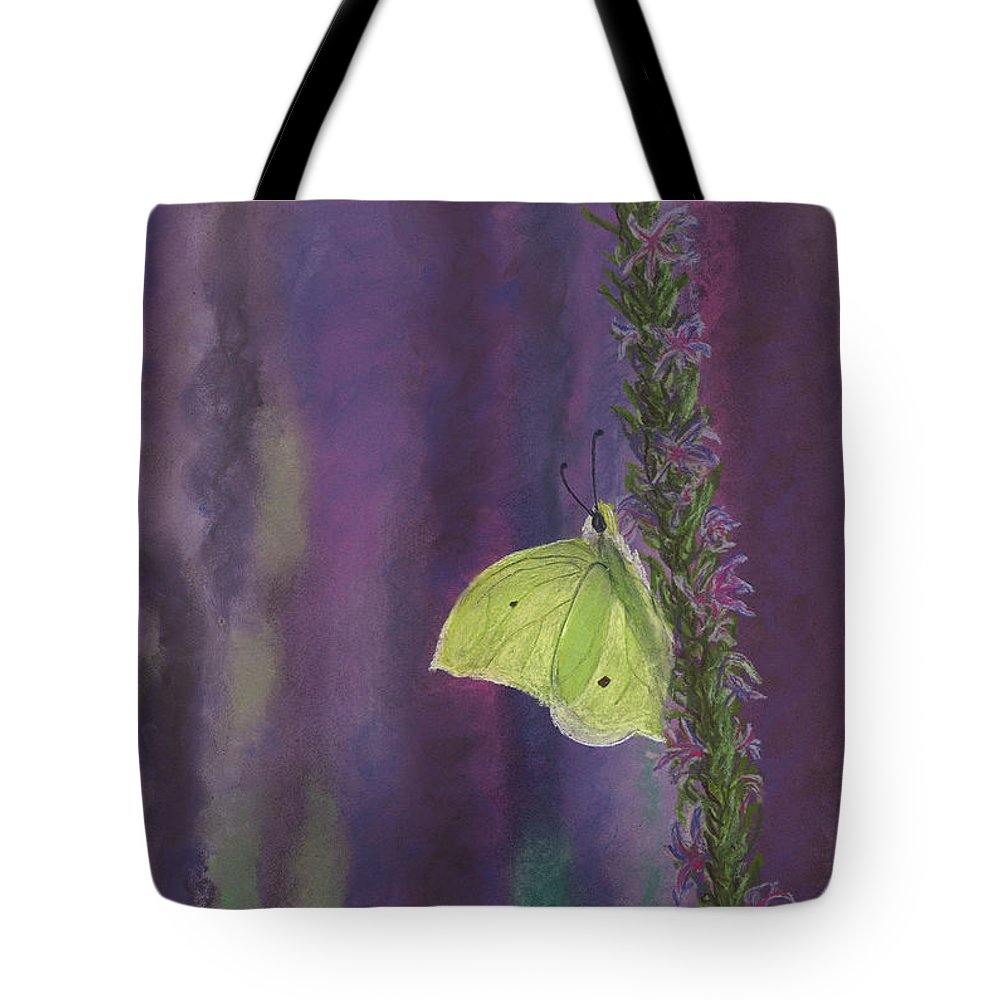Butterfly Tote Bag featuring the drawing Flutterby by Jackie Novak