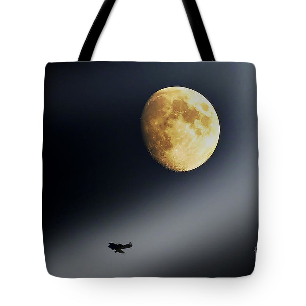 Moon Tote Bag featuring the photograph Fly Me To The Moon by Kevin J McGraw