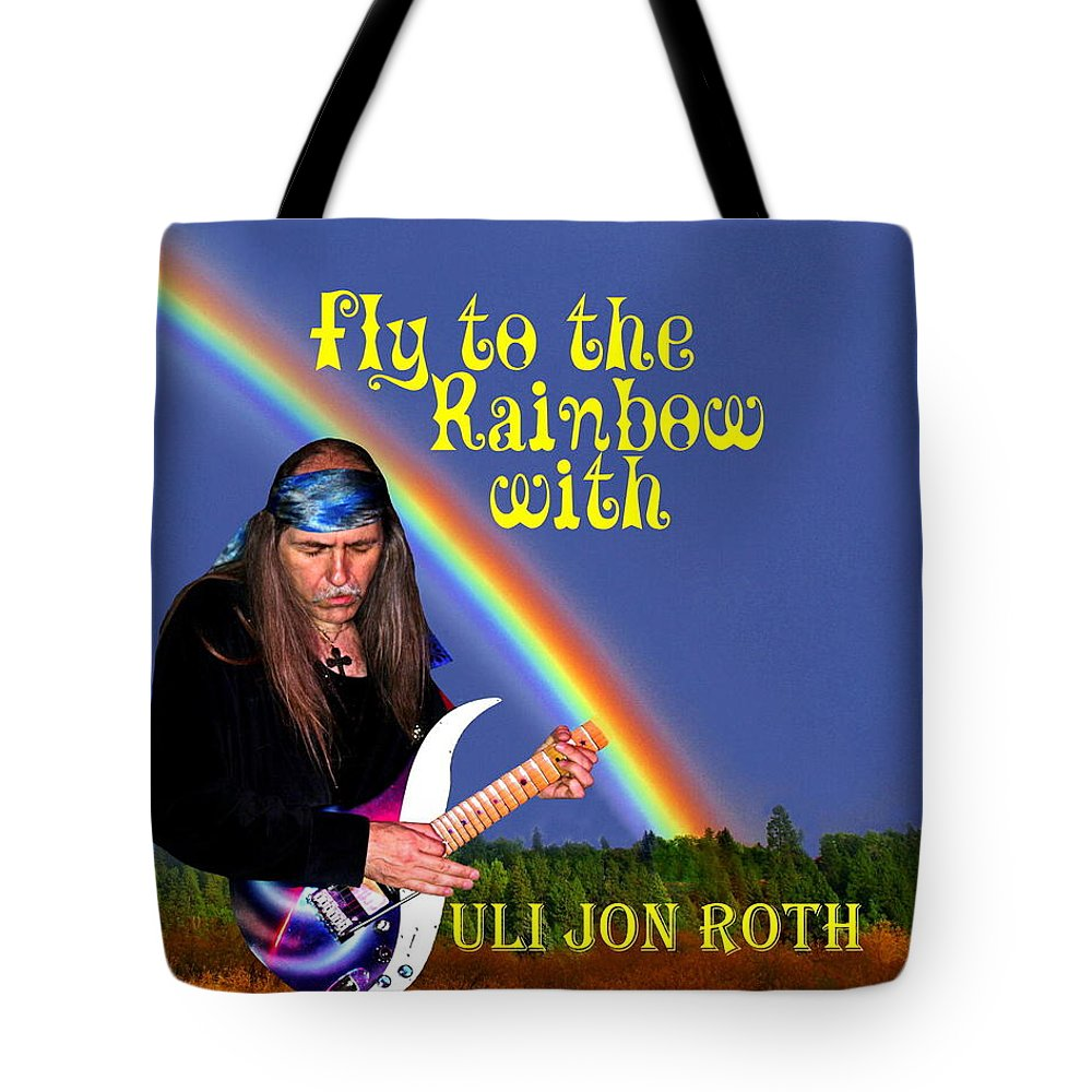 Uli Jon Roth Tote Bag featuring the photograph Fly To The Rainbow With Uli Jon Roth by Ben Upham