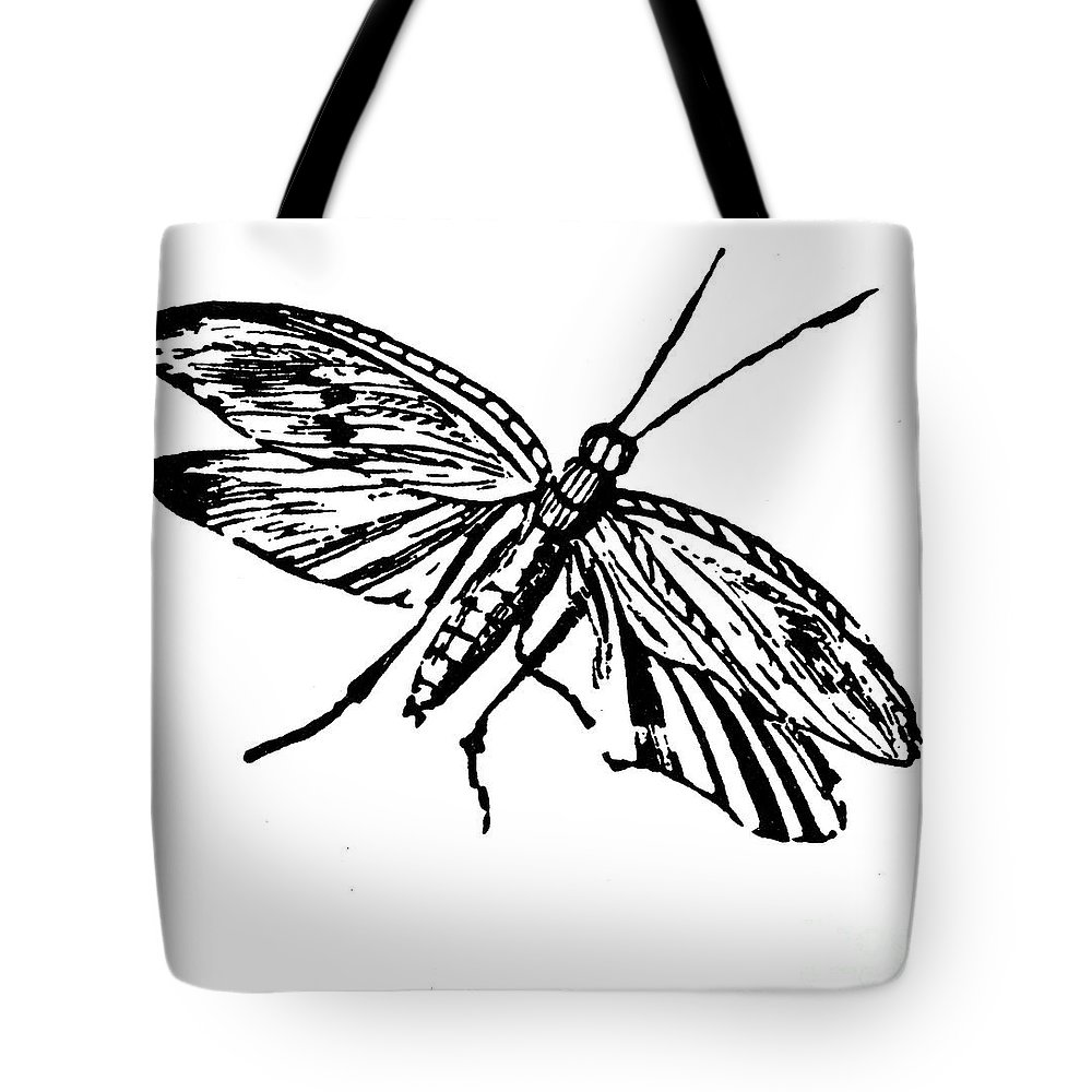 19th Century Tote Bag featuring the photograph Flying Insect by Granger