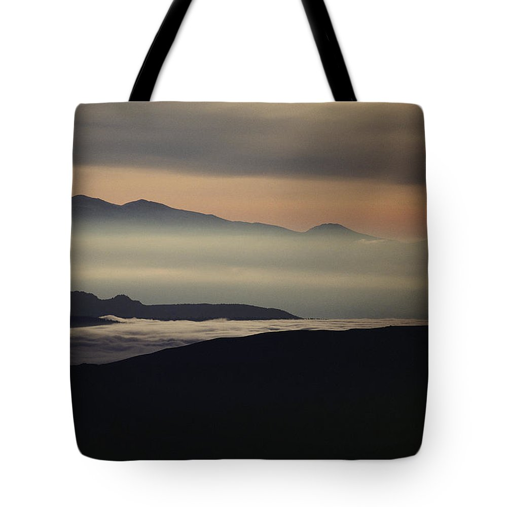 fog Tote Bag featuring the photograph Fog In The Hills At Mammoth Lakes by Michael Nichols