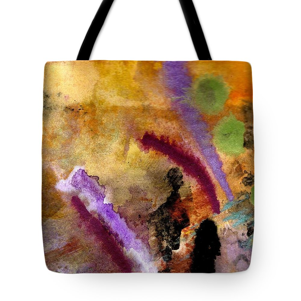 Greeting Cards Tote Bag featuring the painting Follow Me I Know The Way by Angela L Walker
