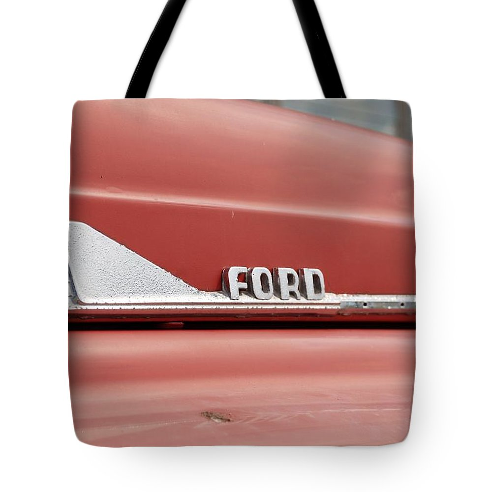 Ford Arrow Tote Bag featuring the photograph Ford Arrow by Rob Hans