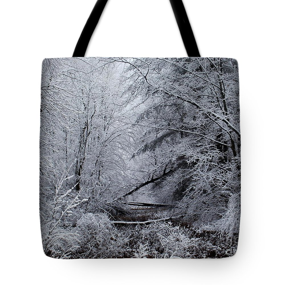 New York Tote Bag featuring the photograph Forest Lace by Christian Mattison
