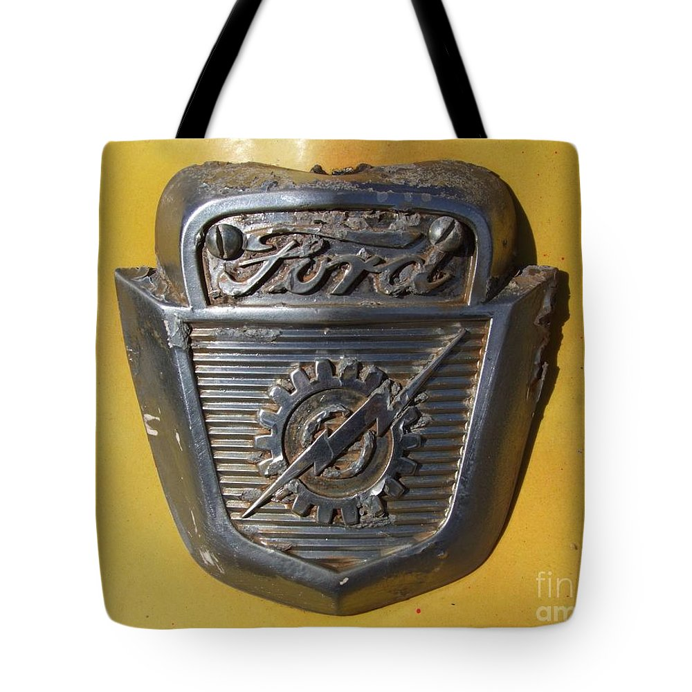Ford Emblem Tote Bag featuring the photograph Forever Ford by Mary Deal