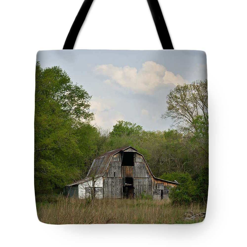 Forgotten Tote Bag featuring the photograph Forgotten Barn 1 by Douglas Barnett