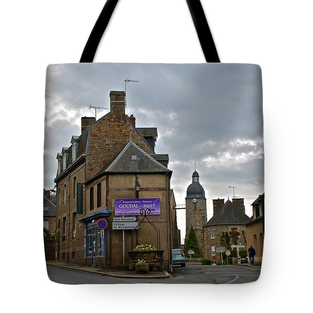 Ducey Tote Bag featuring the photograph Forked Road by Eric Tressler
