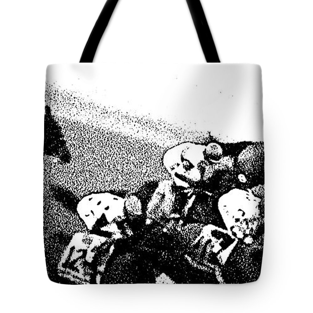 Brian Hernandez Tote Bag featuring the photograph Fort Larned Pulls Ahead by George Pedro