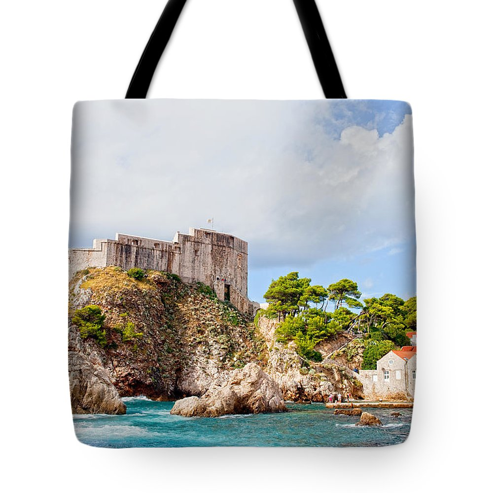 Fort Tote Bag featuring the photograph Fort Lovrijenac In Dubrovnik by Artur Bogacki