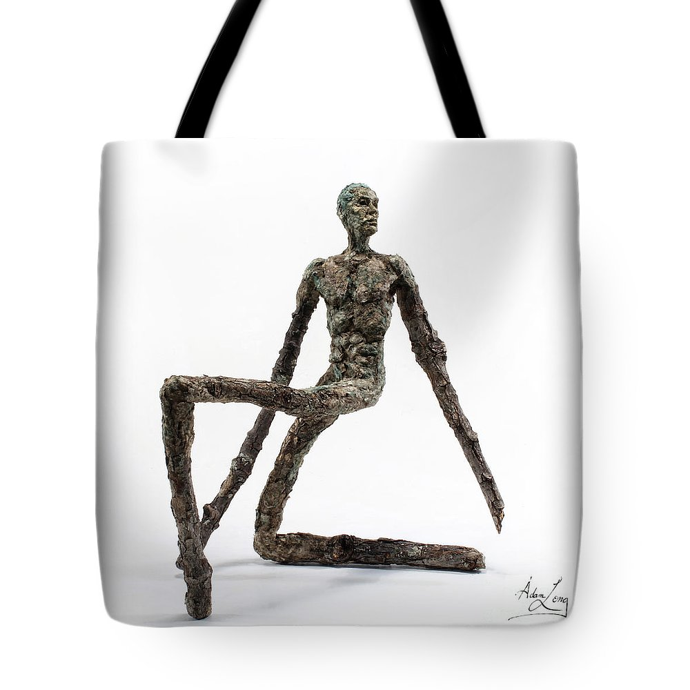 Tree Tote Bag featuring the mixed media Fortitude by Adam Long